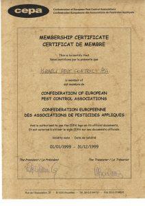 הארגון המדבירים חבר בארגון הגג האירופאי CEPA